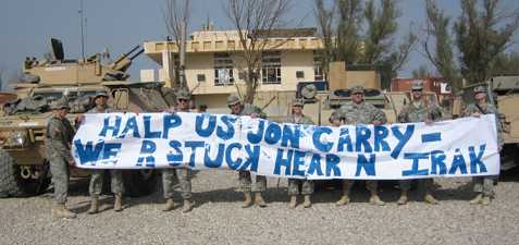 Troop Message to Kerry