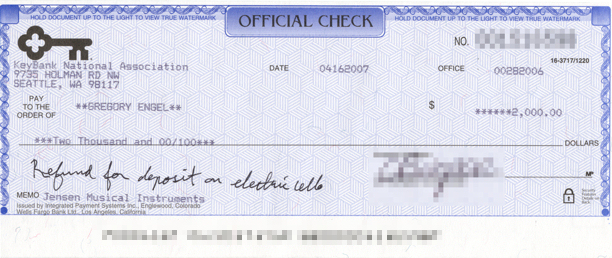Refund Check