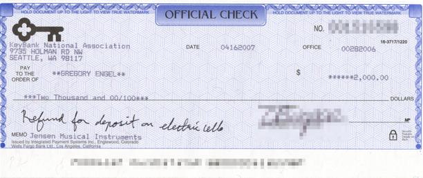 Refund Check