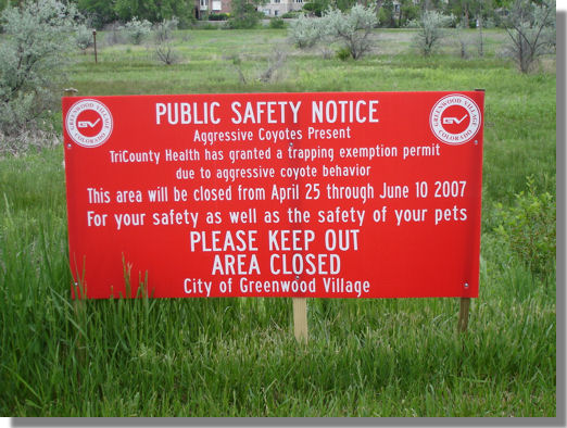 Coyote Warning